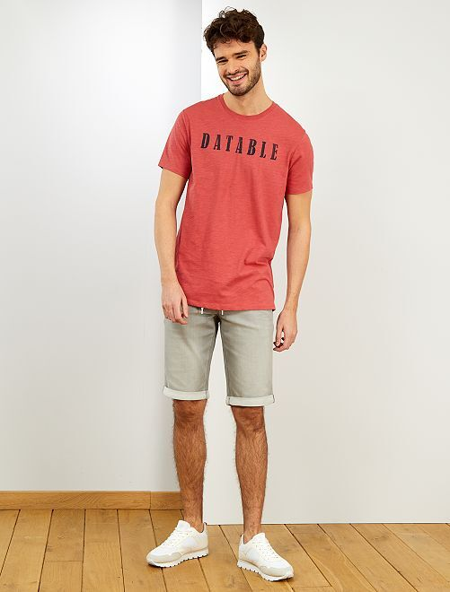 Camiseta de algodón orgánico +1,90 m 'eco-concepción'                                                                 AZUL
