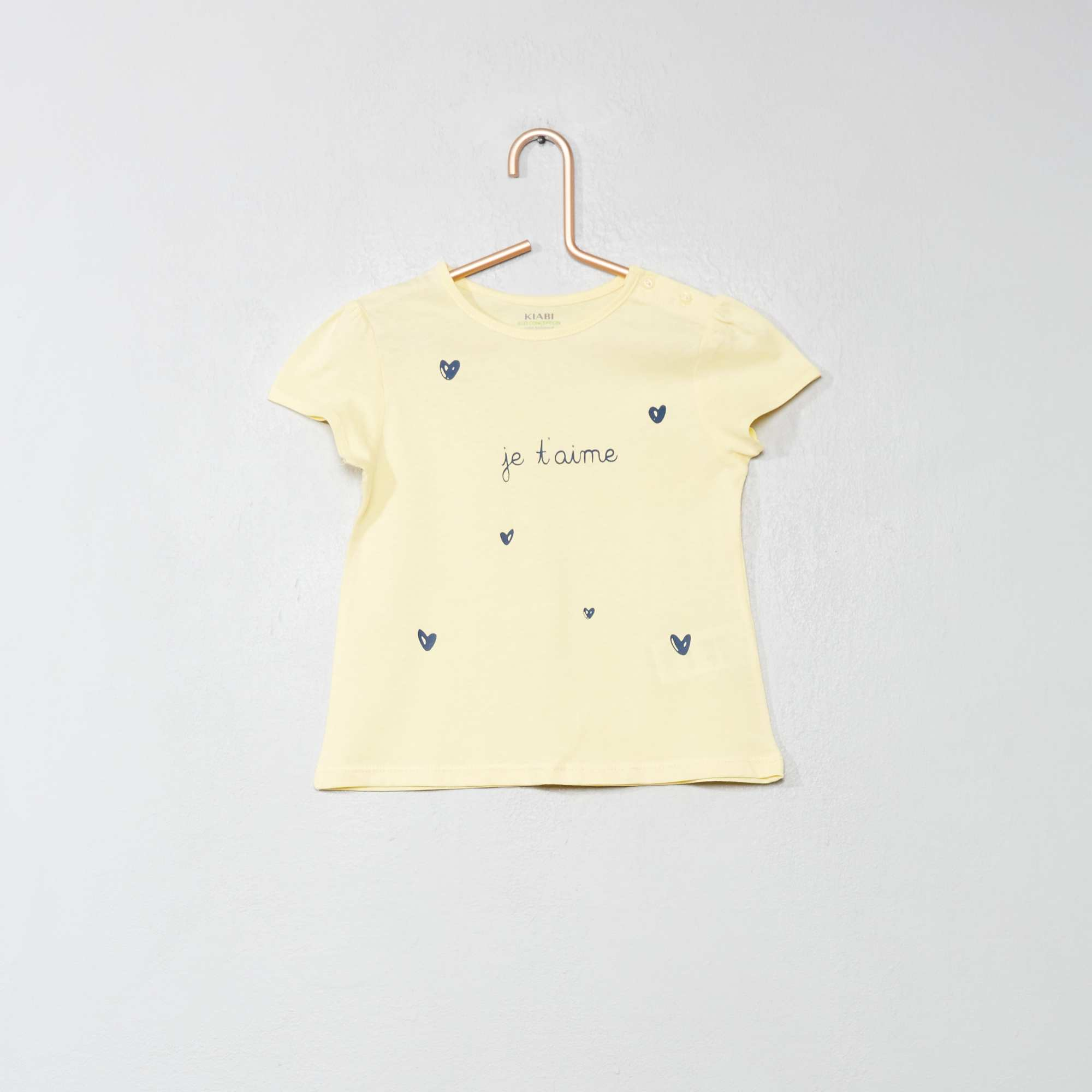 d2f737d3b Camiseta de algodón orgánico Bebé niña - AMARILLO - Kiabi - 2,00€