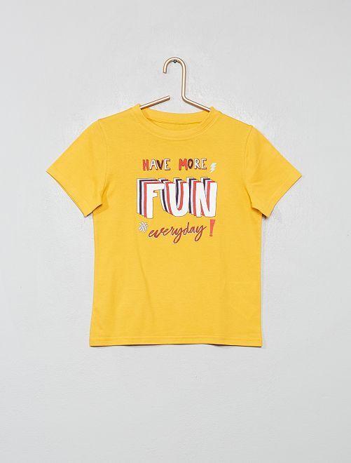 Camiseta de algodón orgánico                                                                                                                 AMARILLO