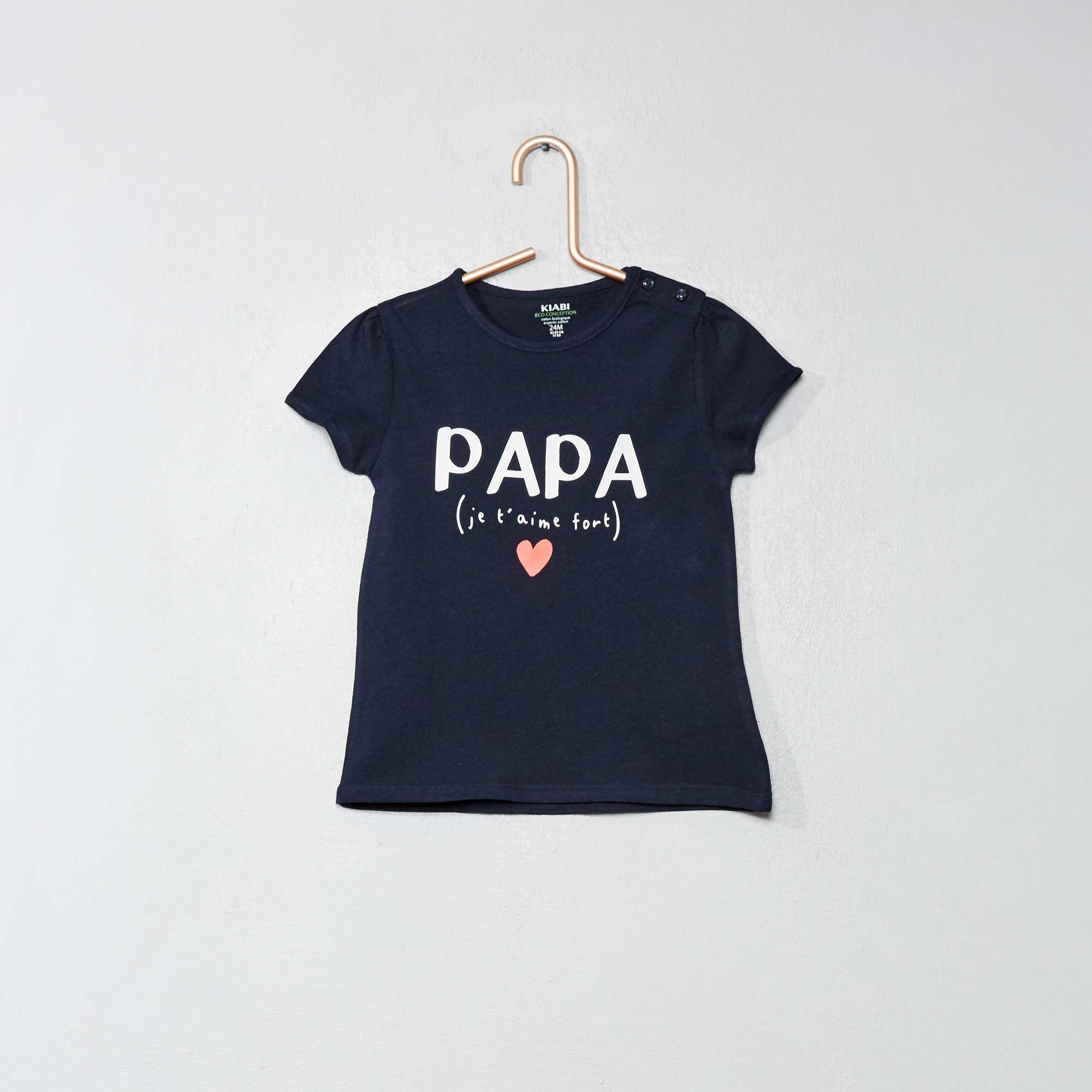 2380704fa81 Camiseta de algodón orgánico Bebé niña - AZUL - Kiabi - 2