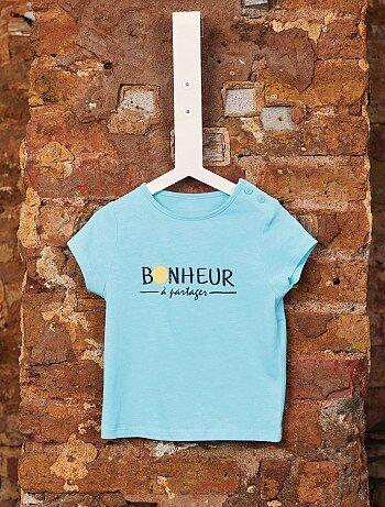 fd78b92f03103 Niño 0-36 meses - Camiseta de algodón orgánico - Kiabi
