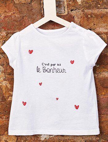 210739f0ec2f5 Camiseta de algodón orgánico - Kiabi