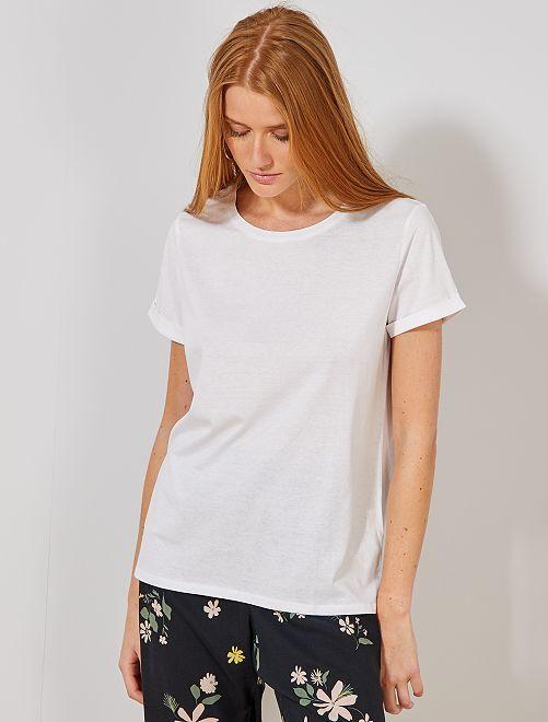 Camiseta de algodón orgánico                                                     blanco