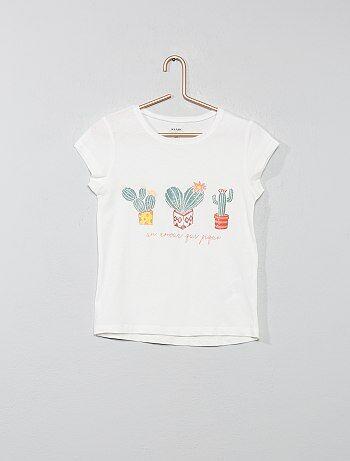 1920fa6faa8 Camiseta de algodón orgánico brillante - Kiabi