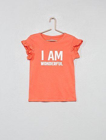 f452ae5b4 Camiseta de algodón orgánico con mensaje - Kiabi