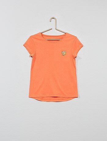 9e233ca663a5 Camiseta de algodón orgánico 'corazón' - Kiabi