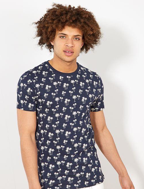 Camiseta de algodón orgánico ecodiseño                                                                                                                                                     AZUL Hombre