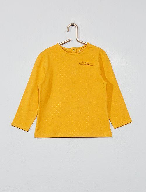 Camiseta de algodón orgánico estampada                                         amarillo