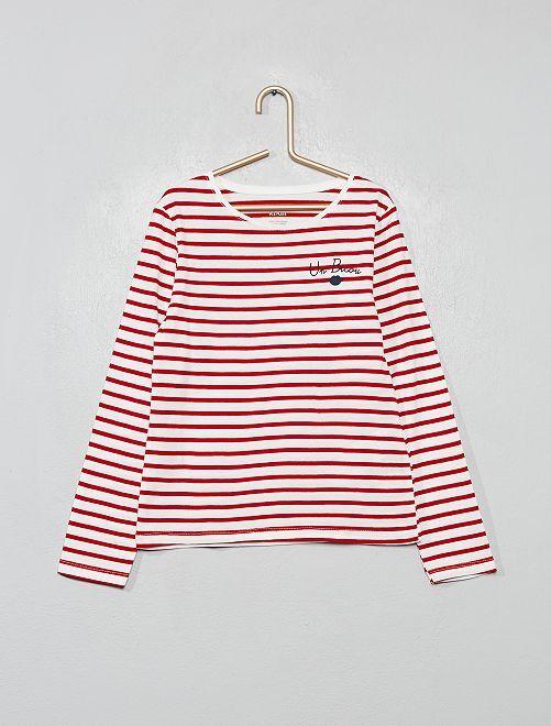Camiseta de algodón orgánico fantasía                                                                                                                                         BLANCO