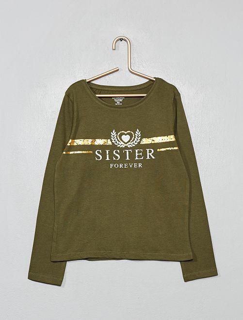 Camiseta de algodón orgánico fantasía                                                                                                                                         KAKI