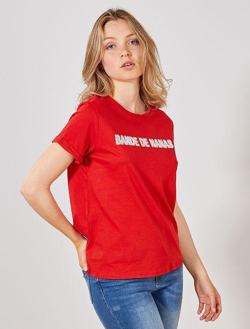 Camiseta de algodón orgánico                                                         ROJO