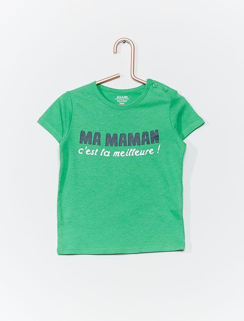 Camiseta de algodón orgánico                                                                                             VERDE