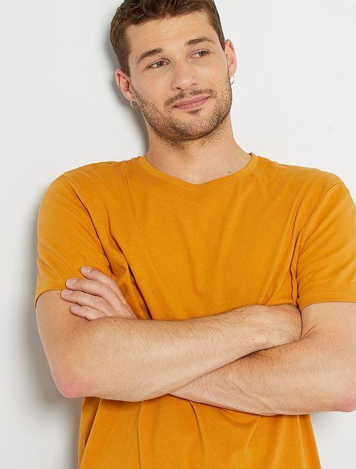 Camiseta de algodón puro +1,90 m                                                                                                     amarillo ocre