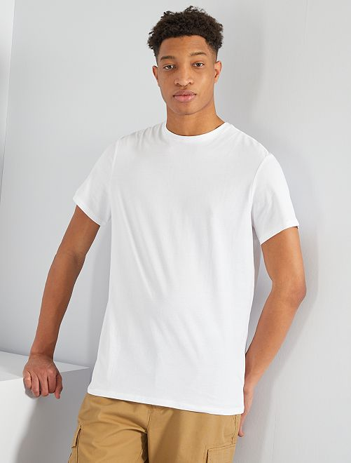 Camiseta de algodón puro +1,90 m                                                                                                     blanco