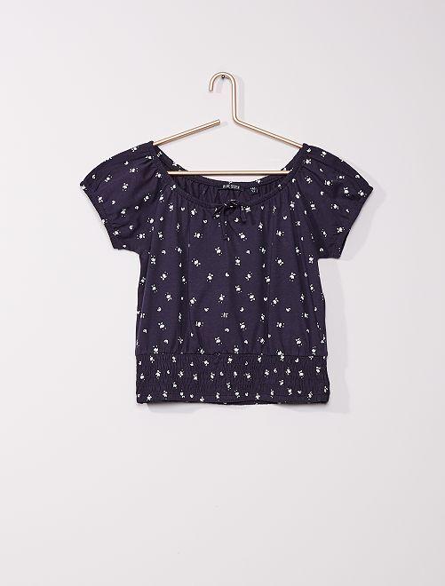 Camiseta de algodón puro                     azul marino