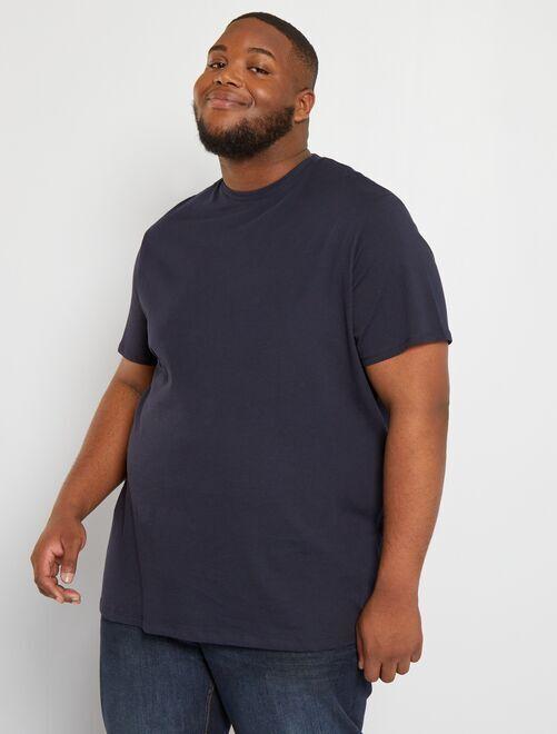 Camiseta de algodón puro                                                                                                                                                                 AZUL