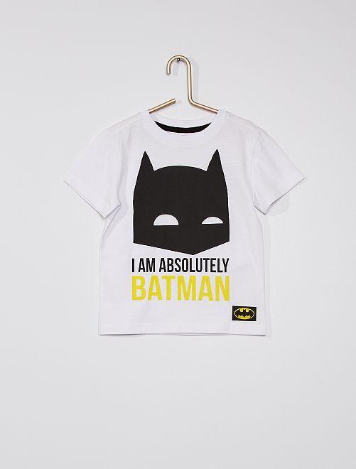 Camiseta de algodón puro 'Batman'                             blanco