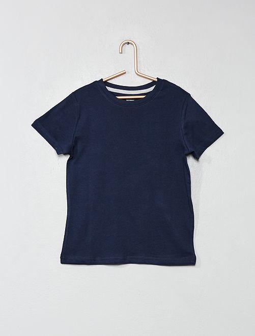 Camiseta de algodón puro bio                                                                 azul Chico