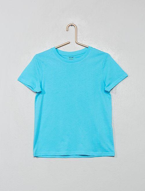 Camiseta de algodón puro bio                                                                                         azul curasao