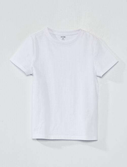 Camiseta de algodón puro bio                                                         blanco