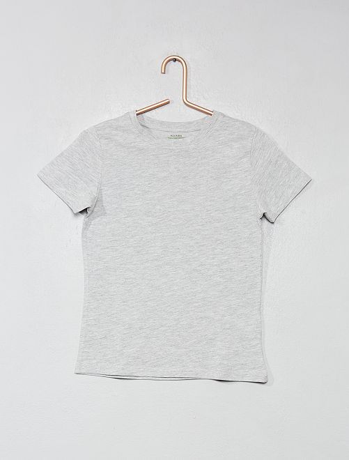 Camiseta de algodón puro bio                                                                             GRIS Chico