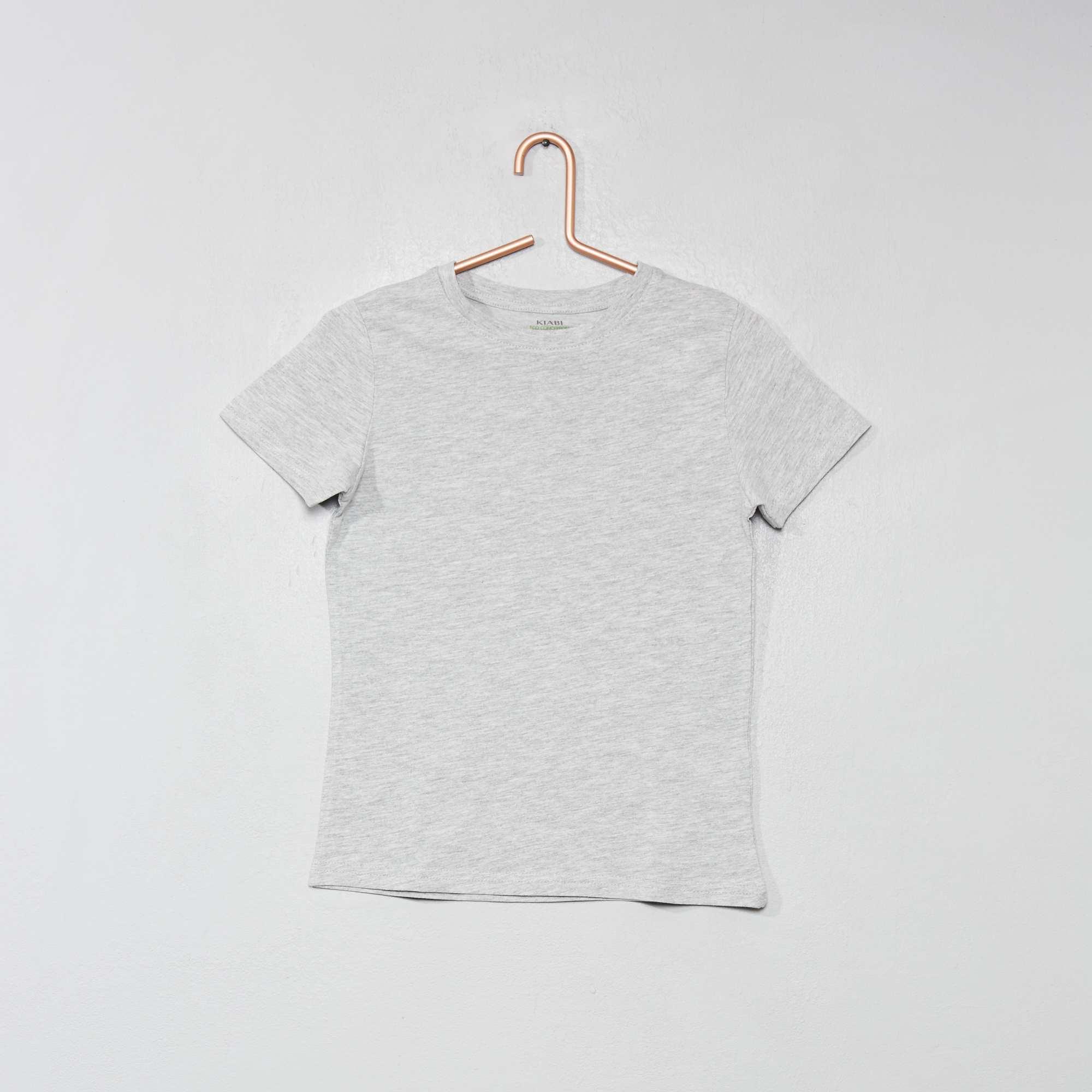 ee2cbcdd520 Camiseta de algodón puro bio Chico - GRIS - Kiabi - 2