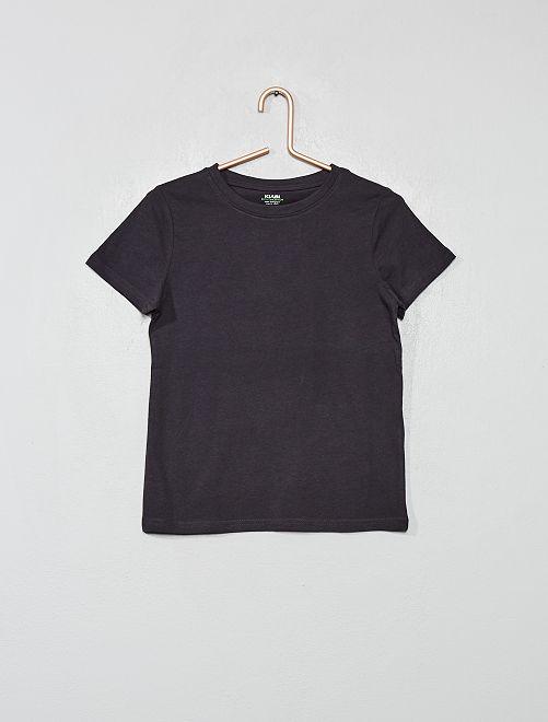 Camiseta de algodón puro bio                                                                                         gris oscuro
