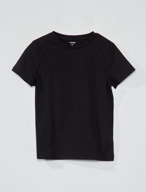 Camiseta de algodón puro bio                                                                     negro Chico