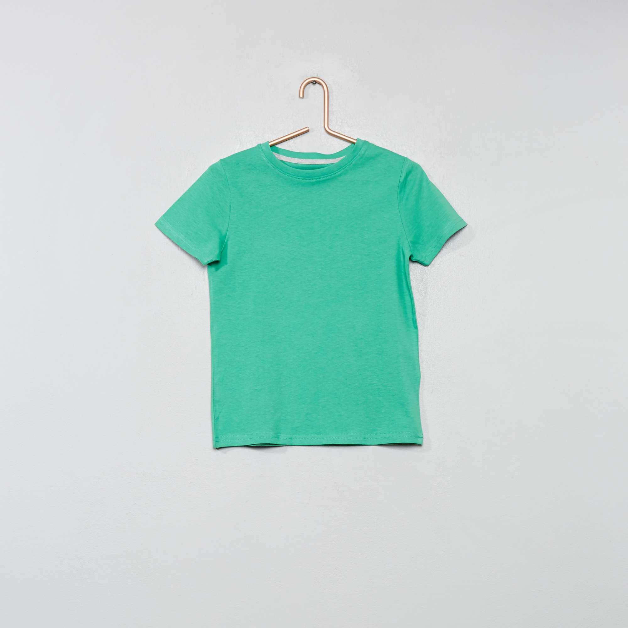 fc1da0bbb1e96 Camiseta de algodón puro bio Chico - VERDE - Kiabi - 2