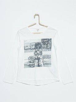 Niña 3-12 años Camiseta de algodón puro