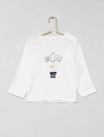 Niña 0-36 meses - Camiseta de algodón puro con mensaje - Kiabi c9ffc5453447