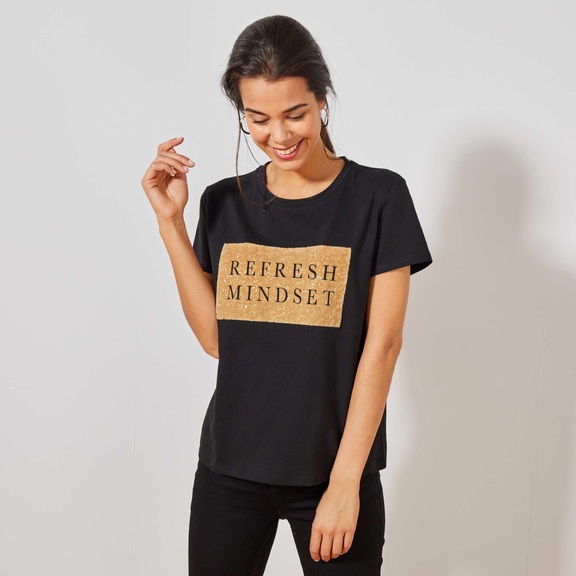 4af75debf Camiseta Moteada De Algodón Puro Joven Niño. 2000 x 2000. Camiseta De  Algod  243 n Puro Con Parche De Terciopelo Mujer