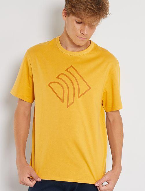 Camiseta de algodón puro eco-concepción                                                                                                     AMARILLO