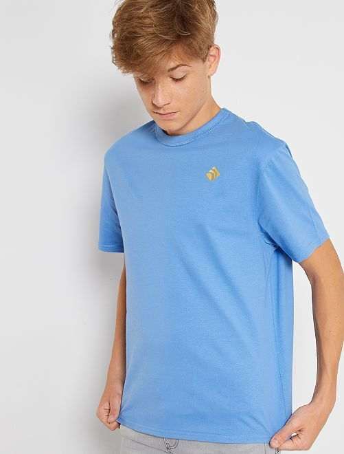 Camiseta de algodón puro eco-concepción                                                                                                     AZUL