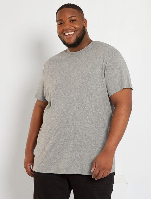 Camiseta de algodón puro                                                                                                                                                         GRIS