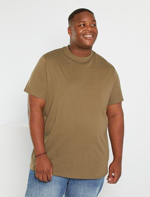 Camiseta de algodón puro                                                                                                                                                                             KAKI