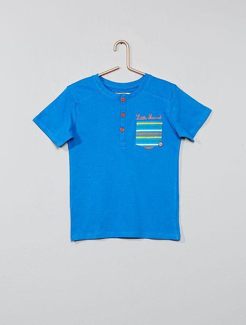 Camiseta de algodón puro 'Little Marcel'                                         azul Chico