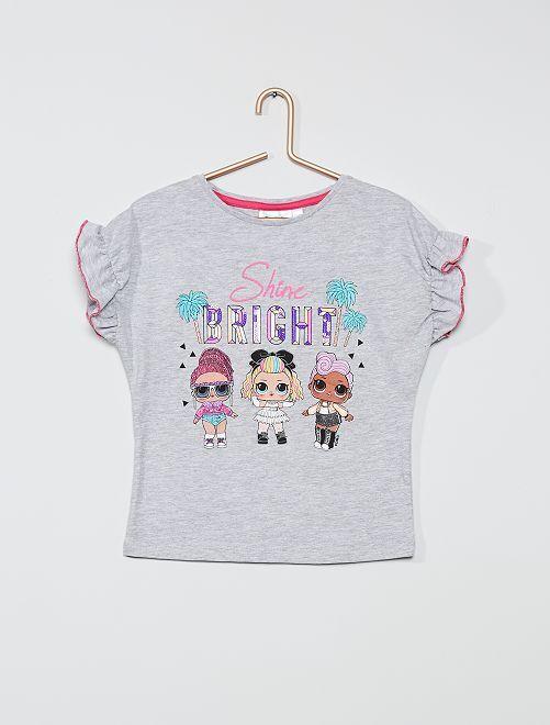 Camiseta de algodón puro 'LOL Surprise'                                         gris