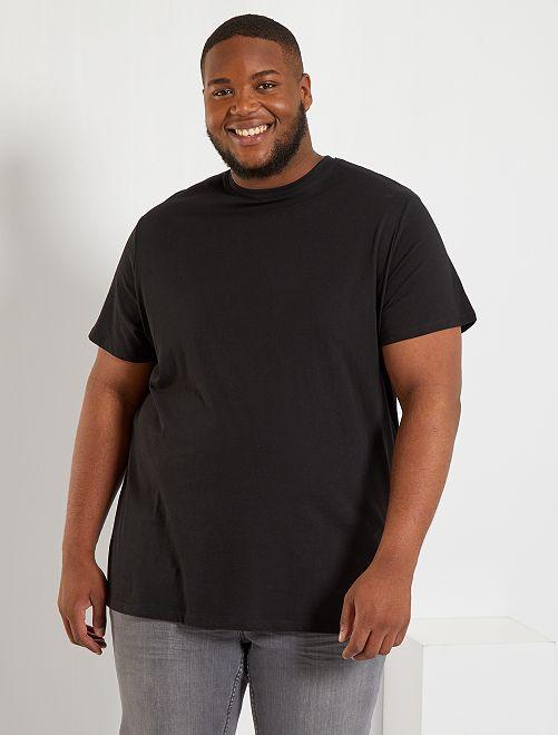 Camiseta de algodón puro                                                                                                                 negro