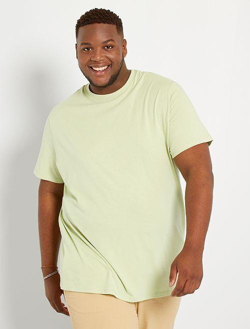 Camiseta de algodón puro                                                                                                                                                                 VERDE