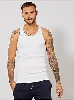 Hombre Camiseta de algodón sin mangas