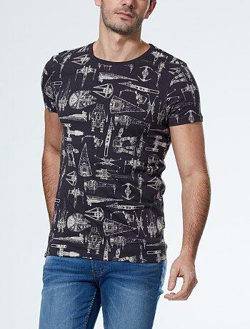 Camiseta de algodón 'Star Wars'                             gris Hombre