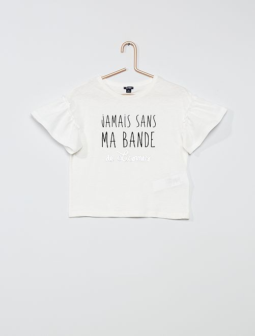 Camiseta de algodón 'unicornio'                                             BEIGE