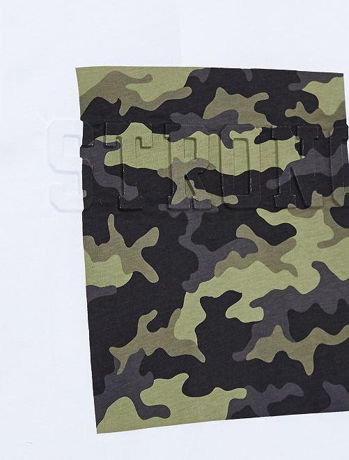 585f713e8 ... Camiseta de camuflaje vista 2 · Camiseta de camuflaje vista 3 · Camiseta  de camuflaje blanco Joven niño