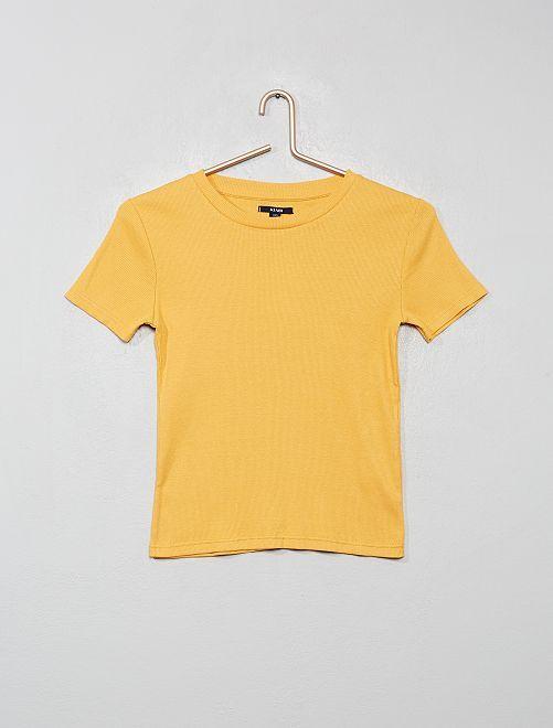 Camiseta de canalé                                                                             AMARILLO