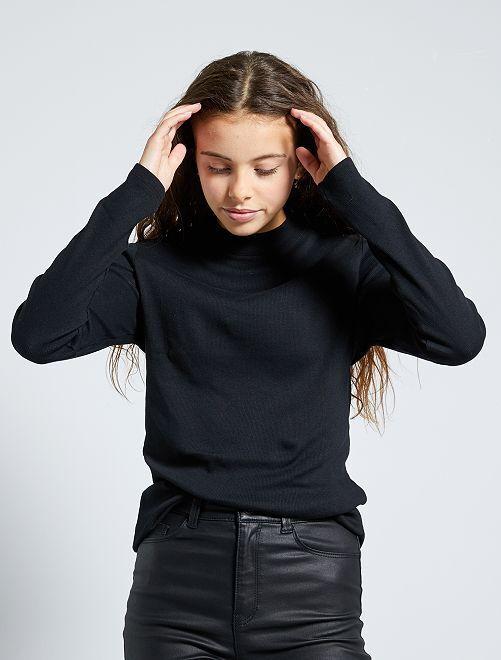 Camiseta de canalé 'eco-concepción'                                                                                                     negro