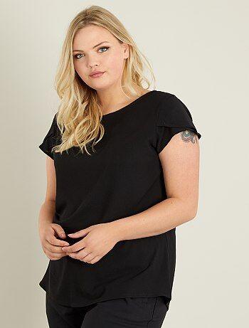 Camiseta de crepé con espalda calada - Kiabi
