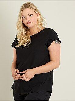 Camisetas manga corta - Camiseta de crepé con espalda calada - Kiabi