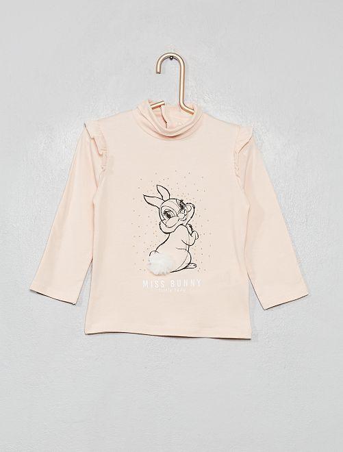 Camiseta de cuello alto 'Disney'                             ROSA