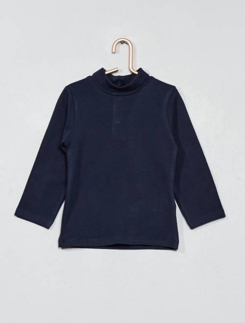 Camiseta de cuello vuelto                                                                 azul Bebé niño